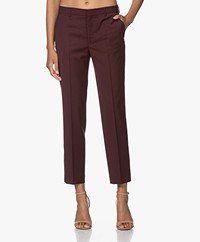 Filippa K Emma Cropped Cool Wool Pantalon - Maroon