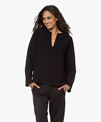 Filippa K Soft Sport Reversed Split Sweatshirt - Zwart