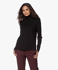 Sibin/Linnebjerg Lisa Turtleneck Sweater in Merino Wool - Black