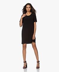 Norma Kamali Short Sleeve Travel Jersey Dress - Black