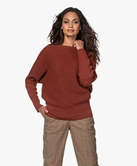 Sibin/Linnebjerg Joy Merino Blend Sweater - Rust