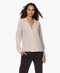 by-bar Anna Viscose Crêpe Blouse - Cream