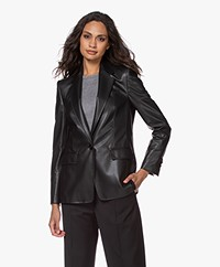 Drykorn Atlin Faux Leather Blazer - Black