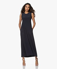 Norma Kamali Swing Sleeveless Maxi Dress - Pewter