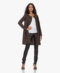 Sibin/Linnebjerg Mary Cardigan - Dark Brown