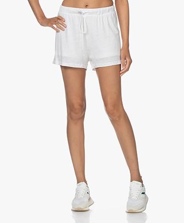 American Vintage Lolosister Linen Sweatshorts - White