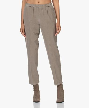Pomandère Loose-fit Baby Corduroy Pants - Steel Grey