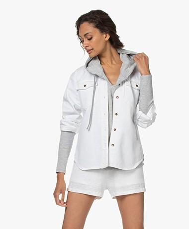 FRAME Boyfriend Denim Shirt - White
