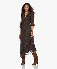 LaSalle Viscose Chiffon Print Fit & Flare Dress - Bloom