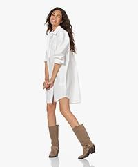 Denham Olivia Oversized Poplin Shirt Dress - White