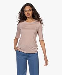 Filippa K Elena Tencel Halflange Mouwen T-shirt - Frosty Rose
