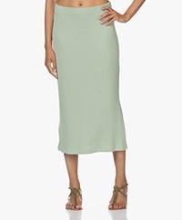 Rails Angie Rib Jersey Midi Skirt - Reseda