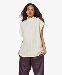 Drykorn Tilani Knitted Woolen Spencer - Cream