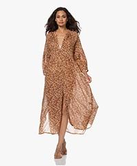 by-bar Loulou Smocked Maxi Print Dress - Warm Beige