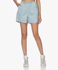 American Vintage Lazybird Denim Shorts - Dirty Bleached
