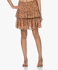 by-bar Ella Smocked Printed Skirt - Warm Beige