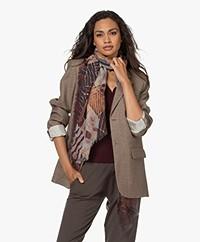 LaSalle Wool Blend Printed Scarf - Klimt
