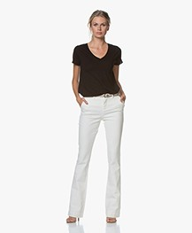 BY-BAR Leila Long Flared Jeans - Off-white