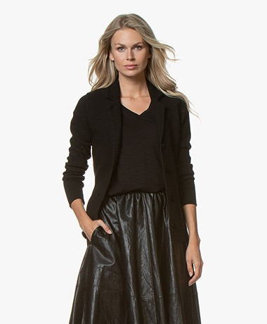 Belluna Fadini Knitted Blazer Cardigan - Black