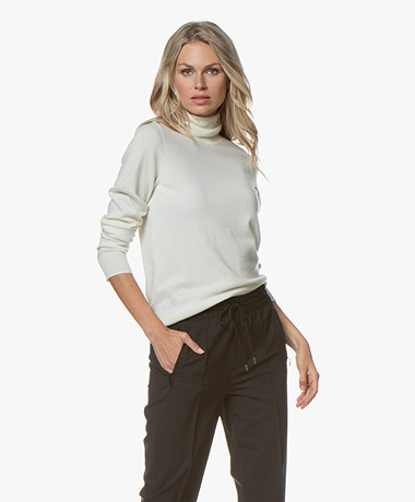 Repeat Luxury Cashmere Turtleneck - Cream