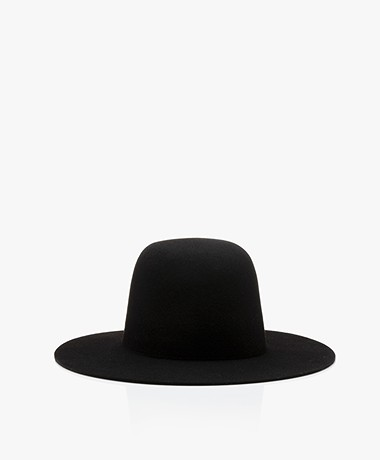 Vanessa Bruno Merino Wool Hat - Black