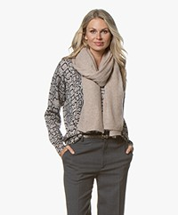 Repeat Pure Cashmere Scarf - Sand