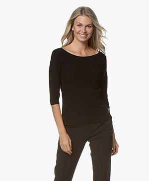 Wolford Viscool Short Sleeve Sweater - Black