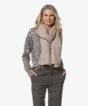 Repeat Cashmere Scarf - Sand