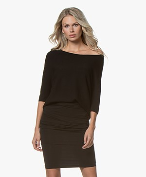 Wolford Viscool Naadloze Pullover - Zwart