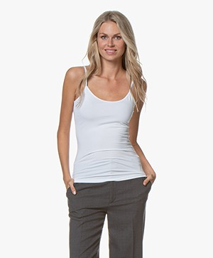 no man's land Viscose Singlet - Wit