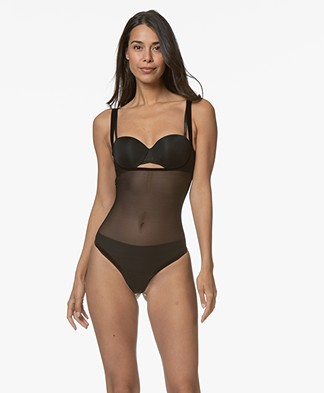 Wolford Tulle Forming String Body - Zwart
