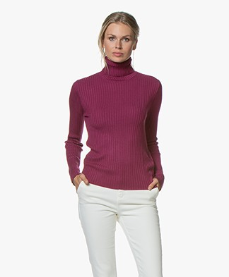 MKT Studio Kehdive Rib Turtle Neck Sweater - Amethyste