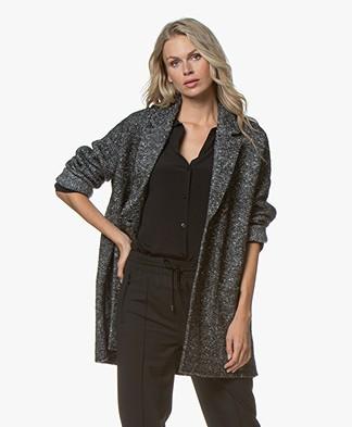 Repeat Oversized Blazer Cardigan - Medium Grey