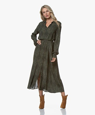 by-bar Yara Paisley Maxi Blousejurk - Evergreen