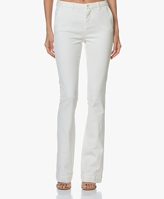 BY-BAR Leila Long Flared Jeans - white