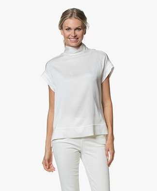 By Malene Birger Candillon Silk Blouse Top - Soft White