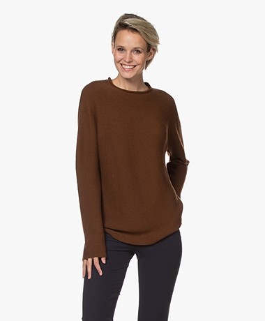 LaSalle Virgin Wool Loose-fit Sweater - Choco