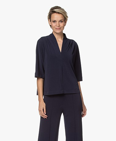 By Malene Birger Bijana Crêpe Jersey T-shirt - Night Sky