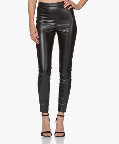LaDress Sevilla Faux Leather Leggings - Black