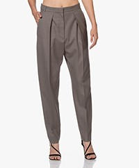 IRO Audina Pleated Wool Pants - Khaki