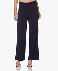 By Malene Birger Miela Crêpe Jersey Broek - Night Sky
