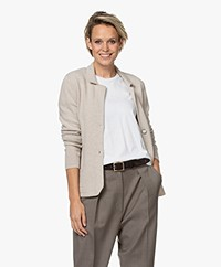 Belluna Noor Short Wool Blend Cardigan - Light Beige