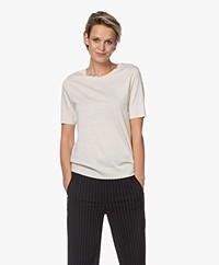 Drykorn Fammy Lyocell Blend Short Sleeve Pullover - Tapioca