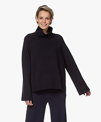 By Malene Birger Aleya Merino Blend Turtleneck Sweater - Night Sky