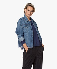 Denham Cape Sustainable Denim Jacket - Blue