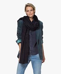 Alpaca Loca Handgemaakte Uni Sjaal in Alpaca - Royal Blue