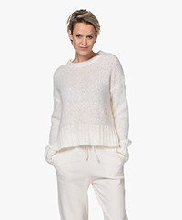 By Malene Birger Beta Chunky Mohair Blend Sweater - Soft White