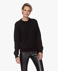 by-bar Lana Alpaca Blend Round Neck Sweater - Black