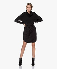 Sibin/Linnebjerg Juliette Knitted Dress with Optional Turtleneck Collar - Black