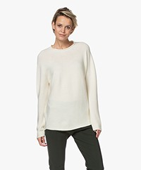 LaSalle Virgin Wool Loose-fit Sweater - Natural